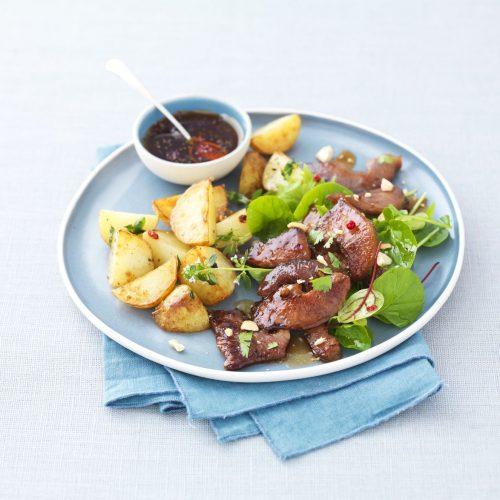 Groin de porc grillé à la sauce aigre douce et coriandre